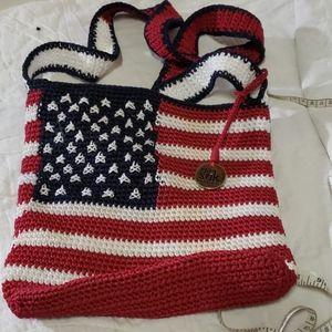 The Sak American flag bag